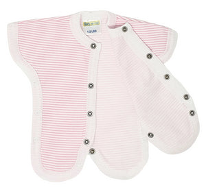 Pink Striped Neonatal Easy Access Vest