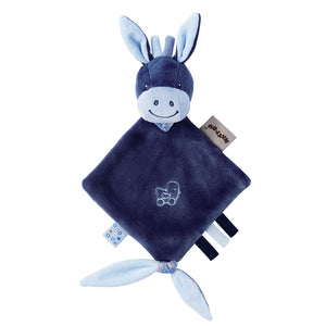 alex the donkey is a mini sized comforter for a baby, suitable for a premature or tiny baby too