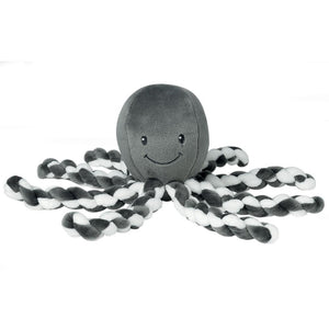 calm and soothe your baby with piu piu the octopus by nattou in anthracite and white