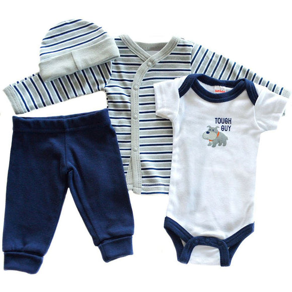 little tough guy four piece tiny baby gift set