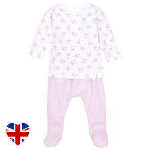 butterfly kisses tee and leggings baby outfit designed and manufactured in the united kingdom for teddy and me
