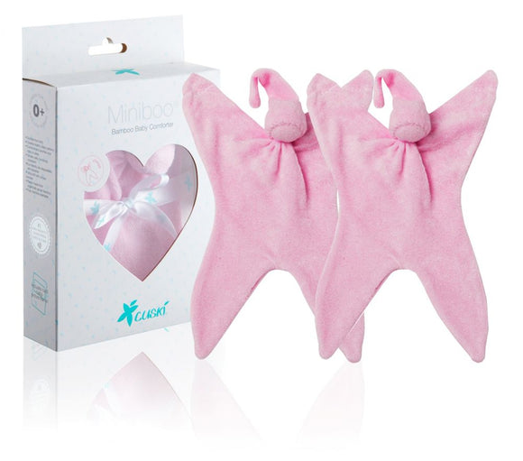 Pink Miniboo - Premature Baby Comforter Twin Pack