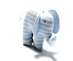 Organic Scrappy Elephant - Blue Stripes