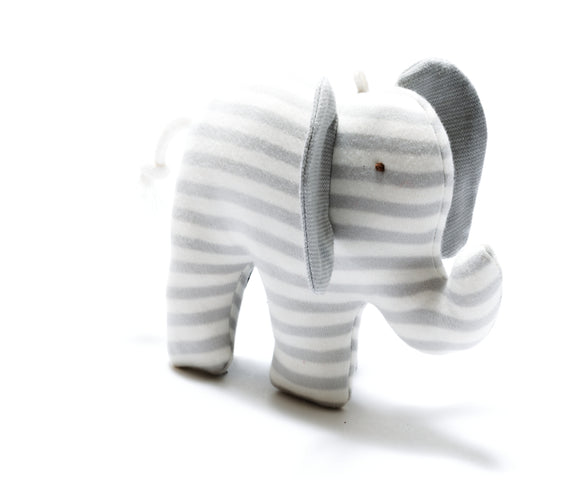 Organic Scrappy Elephant - Grey Stripes