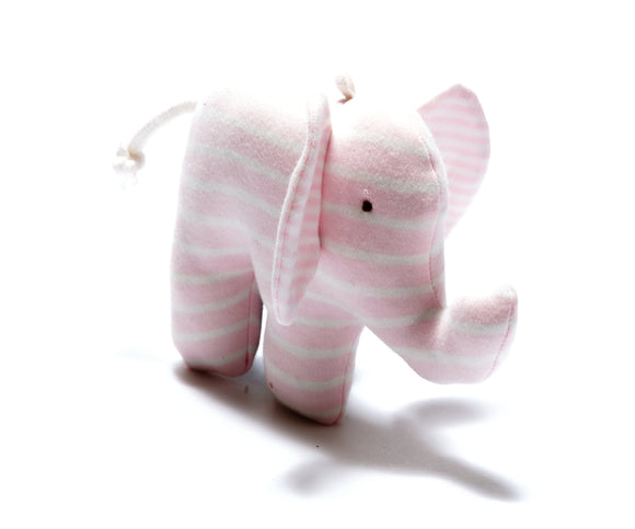 Organic Scrappy Elephant - Pink Stripes