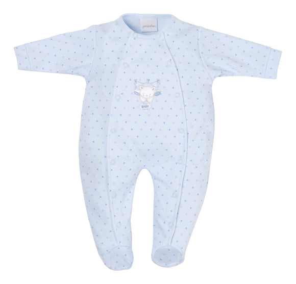 Sky Tiny Bear Star Premature Baby Sleepsuit