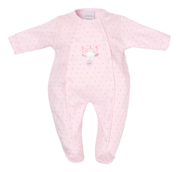 Pink Tiny Bear Premature Baby Sleepsuit