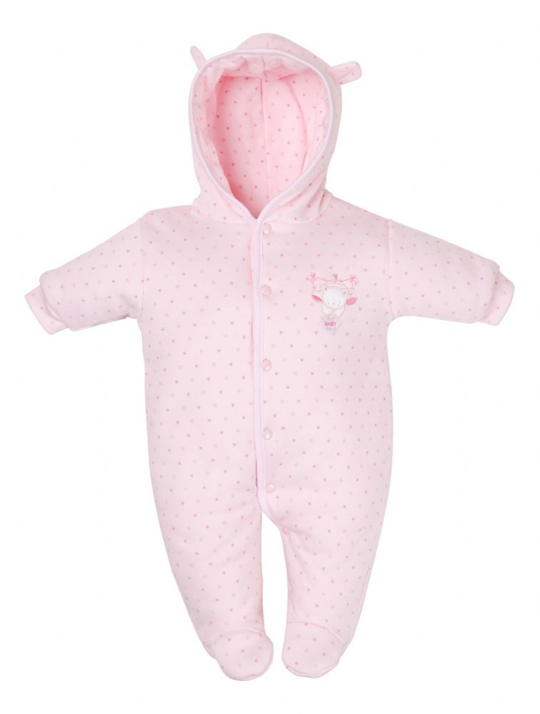 3200f42c882bc Pink Premature Baby Pramsuit available from Teddy & Me
