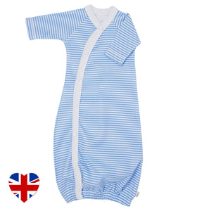 carlton stripe baby bundler designed and manufactured in the united kingdom for teddy and me
