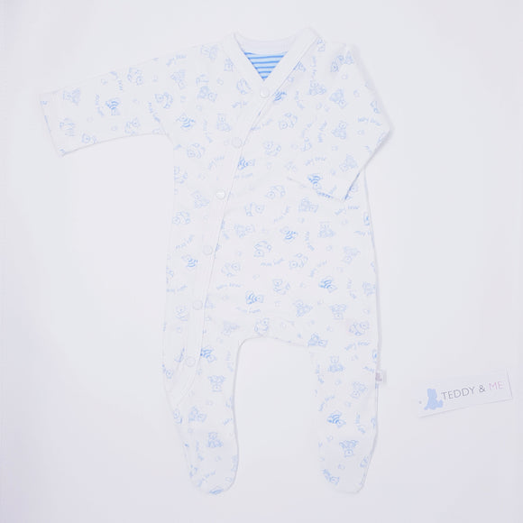 Baby Bear Cotton Sleepsuit -