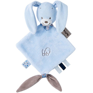 bibou the rabbit is a mini sized comforter for a baby, suitable for a premature or tiny baby too