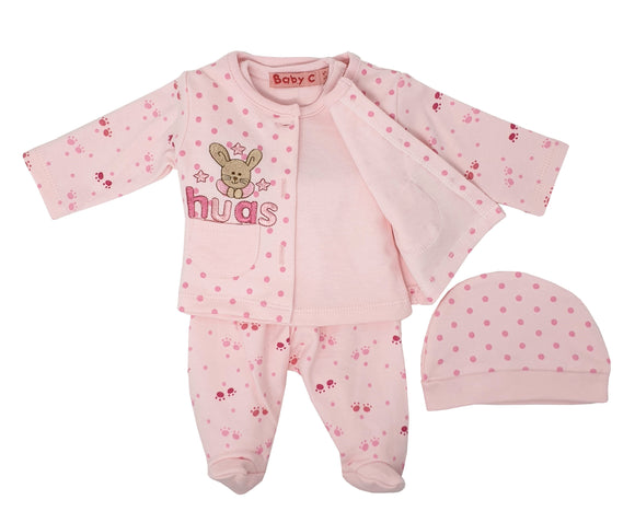 Bunny Hugs Pink 4 Piece Premature Baby Gift Set