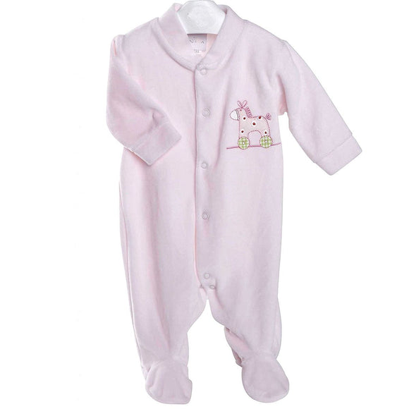 Pink Rocking Horse Premature Baby Sleepsuit