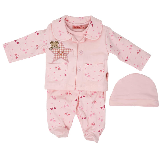 Teddy's Star Pink 4 Piece Premature Baby Gift Set