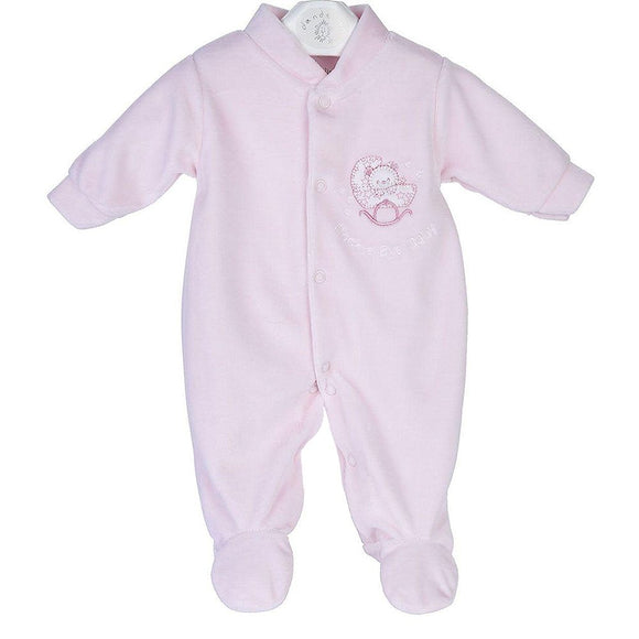 Rock A Bye Baby Pink Sleepsuit