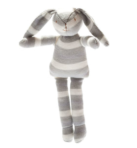 under the nile organic stripe bunny. new baby gift suitable from birth