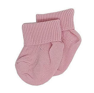 Cotton Rib Pink Turn Over Top Premature Baby Socks