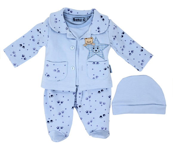 Teddy's Star Sky 4 Piece Premature Baby Gift Set