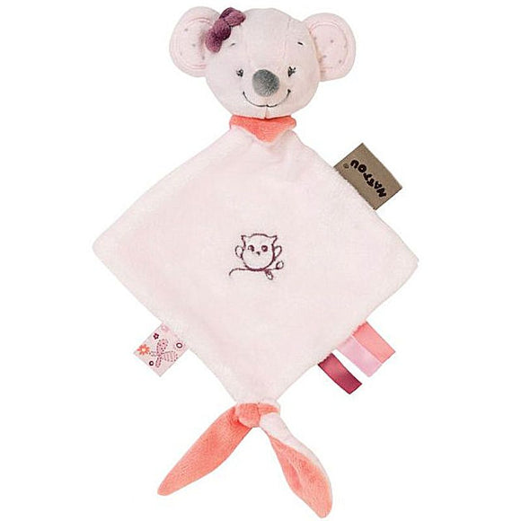 Nattou Mini Doudou Valentine the Mouse - Mini Sized New Baby Comforter