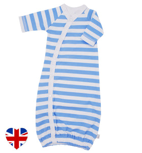 nautical stripe baby bundler designed and manufactured in the united kingdom for teddy and me
