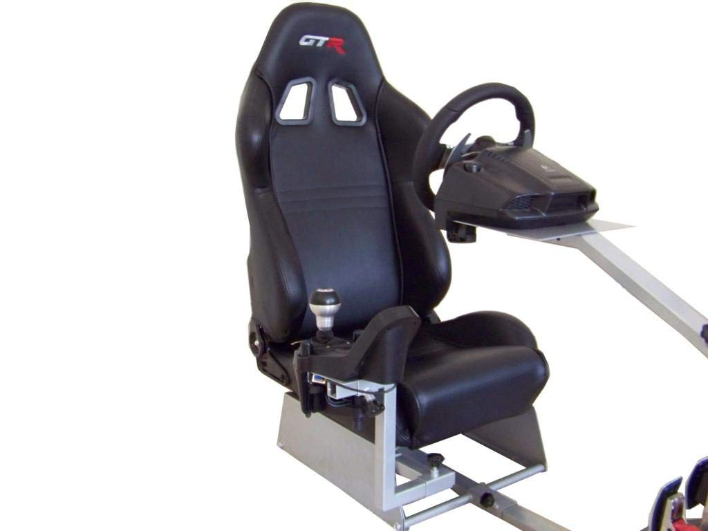 GTR Simulator Touring Model with Real Racing Seat Driving Simulator Cockpit Gaming Chair with Gear Shifter Mount