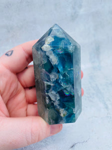 Rainbow Fluorite Tower 003