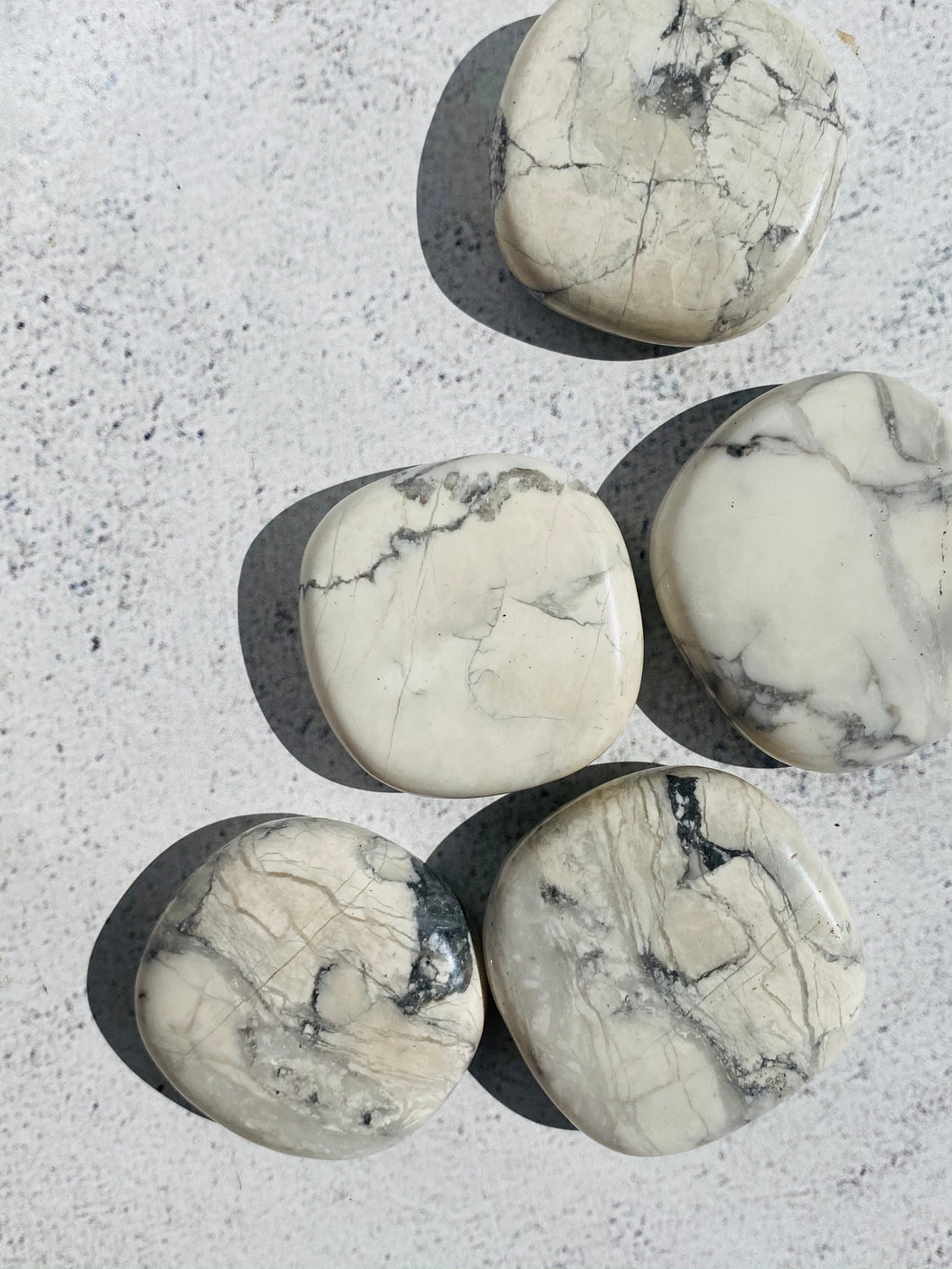 White Howlite Pillow Stone || Intuitively Chosen