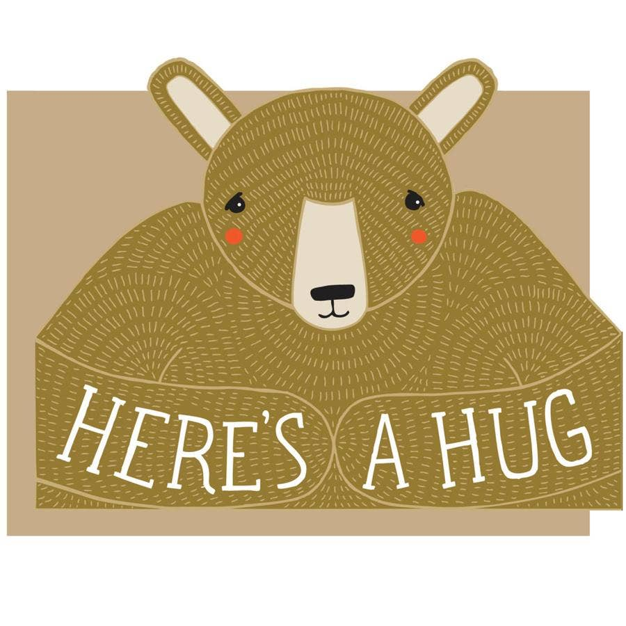 Bear Hug Die Cut Card