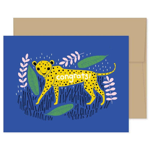 Congrats Cheetah Card