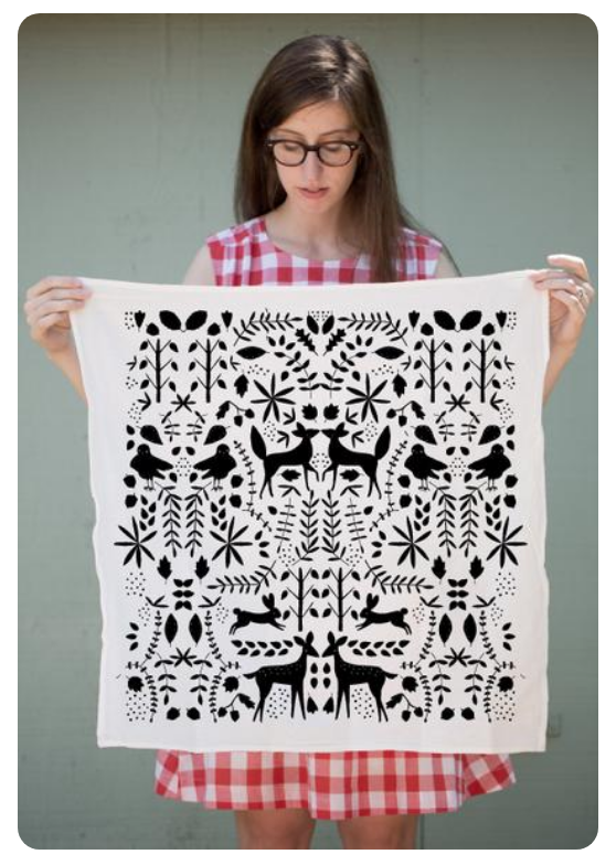 Otomi Tea Towel