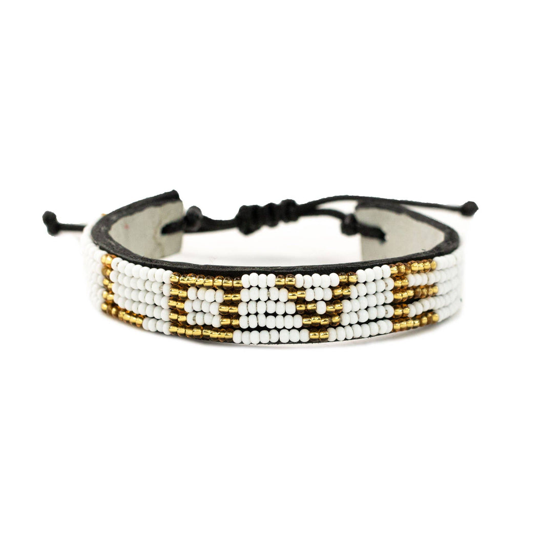 LOVE Bracelet - White/ Gold