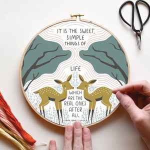 Sweet Simple Things Of Life Embroidery Sampler