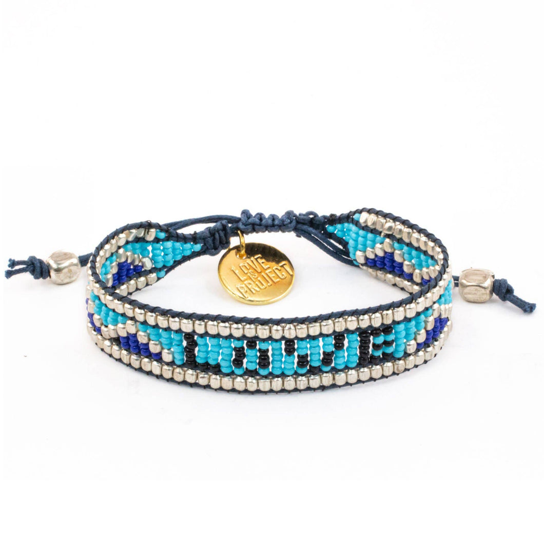 Taj LOVE Bracelet - Blue & Black