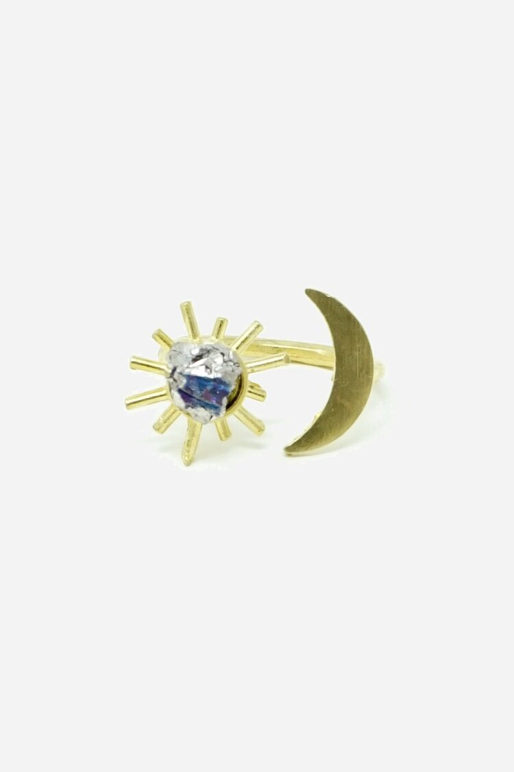 Stone and Sunburst Ring - * more stone/color options available