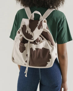 BAGGU Drawstring Backpack - Brown Cow