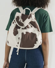 Load image into Gallery viewer, BAGGU Drawstring Backpack - Brown Cow