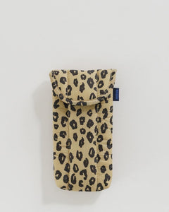BAGGU Puffy Glasses Sleeve - Honey Leopard