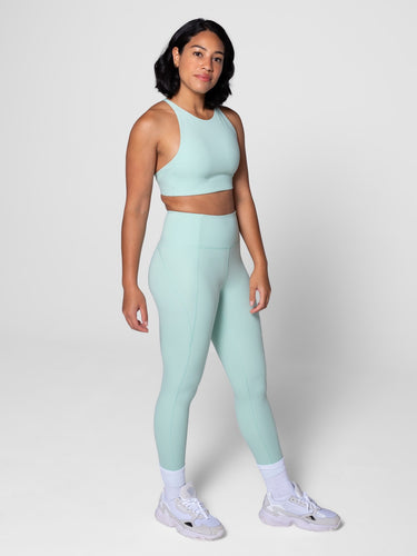 "Girlfriend Collective Compressive High-rise Legging 23 3/4"" - Seafoam"