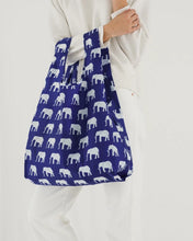Load image into Gallery viewer, BAGGU Standard Reusable Tote - Blue Elephant