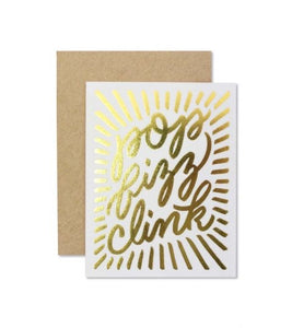Pop Fizz Clink Greeting Card