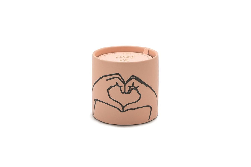 Tobacco + Vanilla Ceramic Candle- Heart! 5.75oz