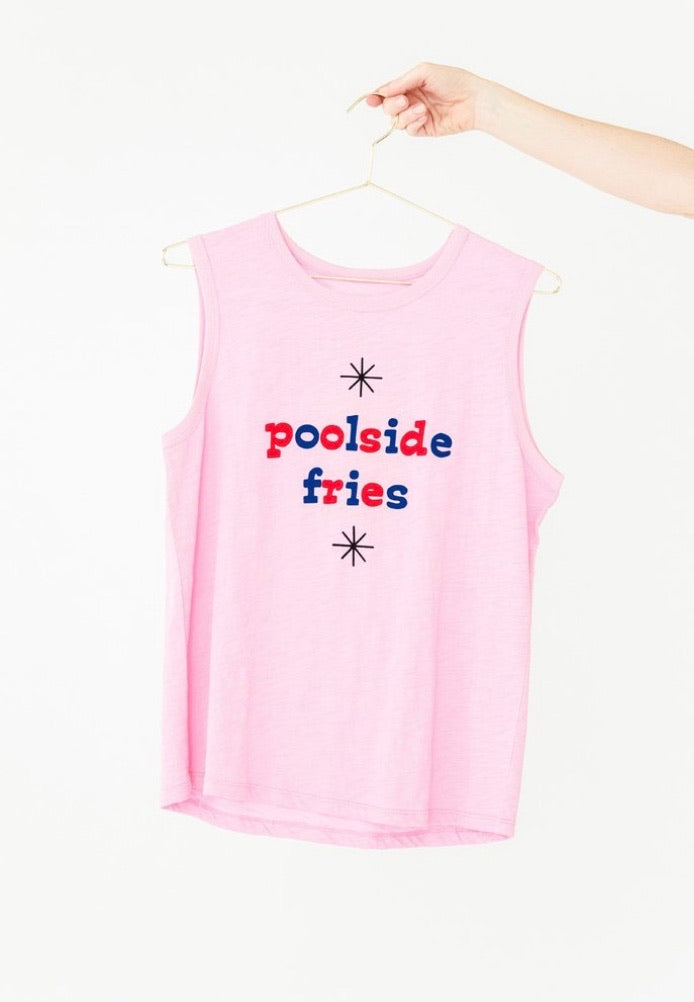 Poolside Fries Muscle Tank - Pink