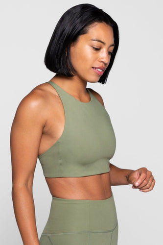 Girlfriend Collective Topanga Bra - Olive