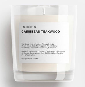 Caribbean Teakwood Glass Tumbler Candle - 12oz
