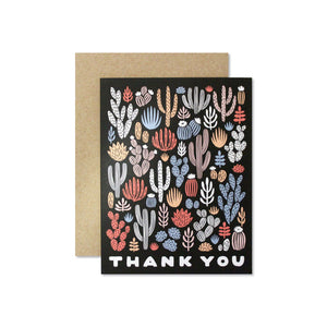Cactus Thank You Greeting Card