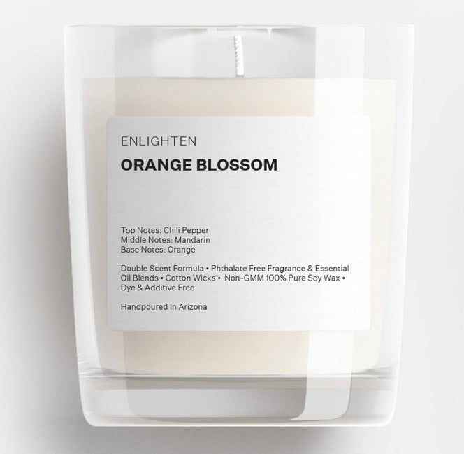 Orange Blossom Glass Tumbler Candle - 12oz