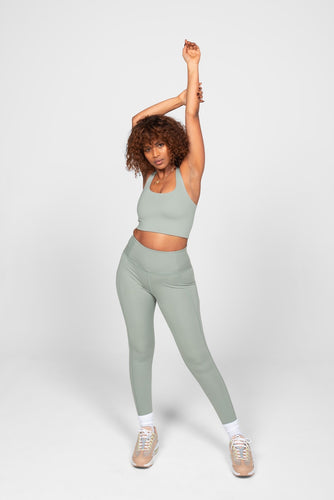 "Girlfriend Collective Compressive High-rise Legging 28.5"" - Agave"