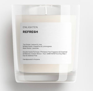 Refresh Glass Tumbler Candle - 12oz