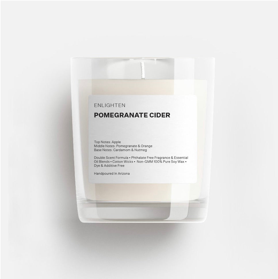 Pomegranate Cider Glass Tumbler Candle - 3oz