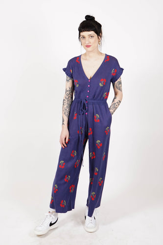 Phil Cherry Jumpsuit - Navy